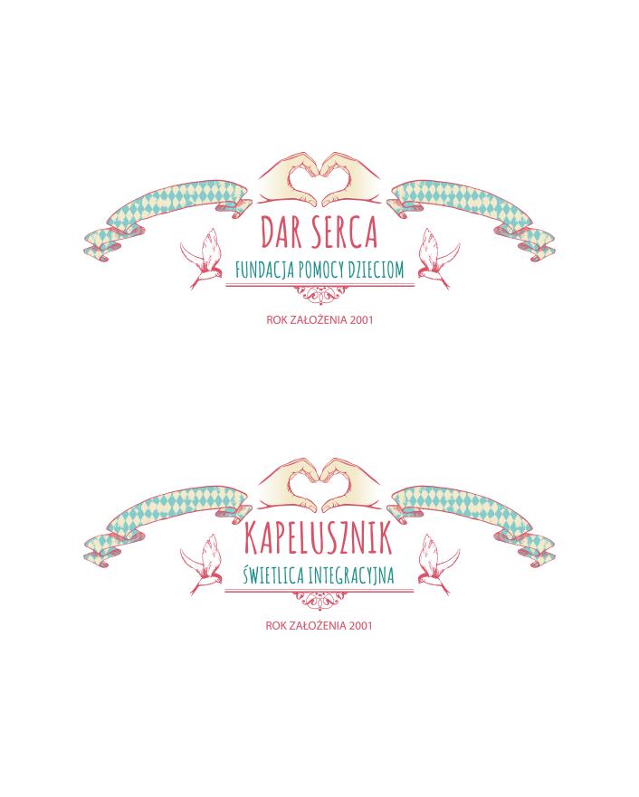 "Logo ""Dar Serca"" i ""Kapelusznik""."