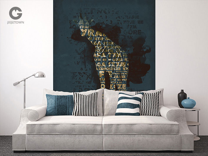 Żyrafa jako fototapeta.