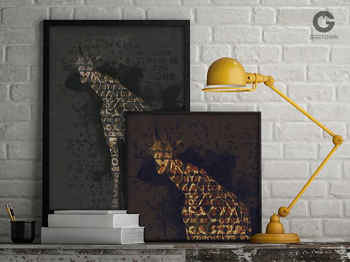 Żyrafa jako plakat.