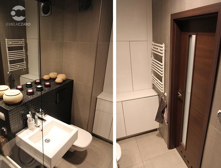 Łazienka - geberit i drzwi.
