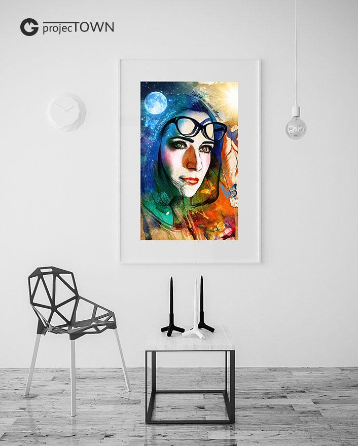 Możliwość umieszczenia portretu na obrazie, plakacie lub zdjęciach XXL.