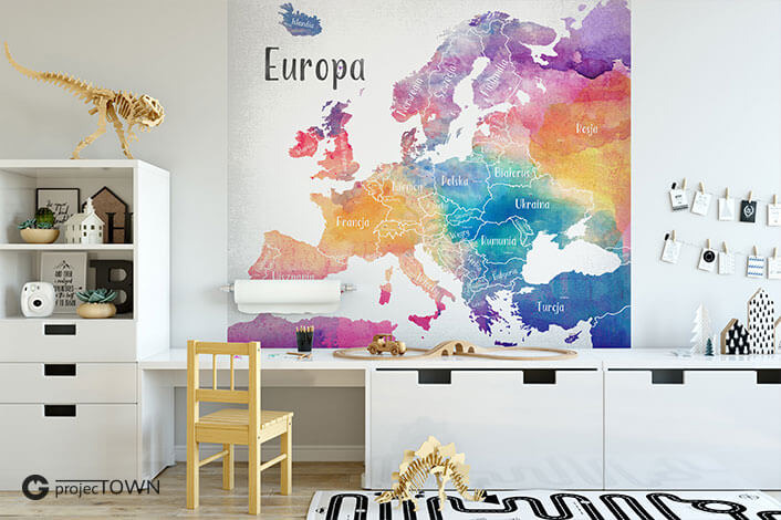 Grafika jako fototapeta na ścianę.