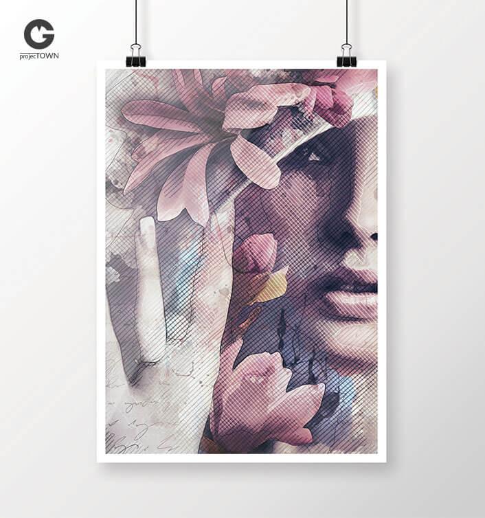 Grafika jako plakat - możesz wybrać własny kadr.