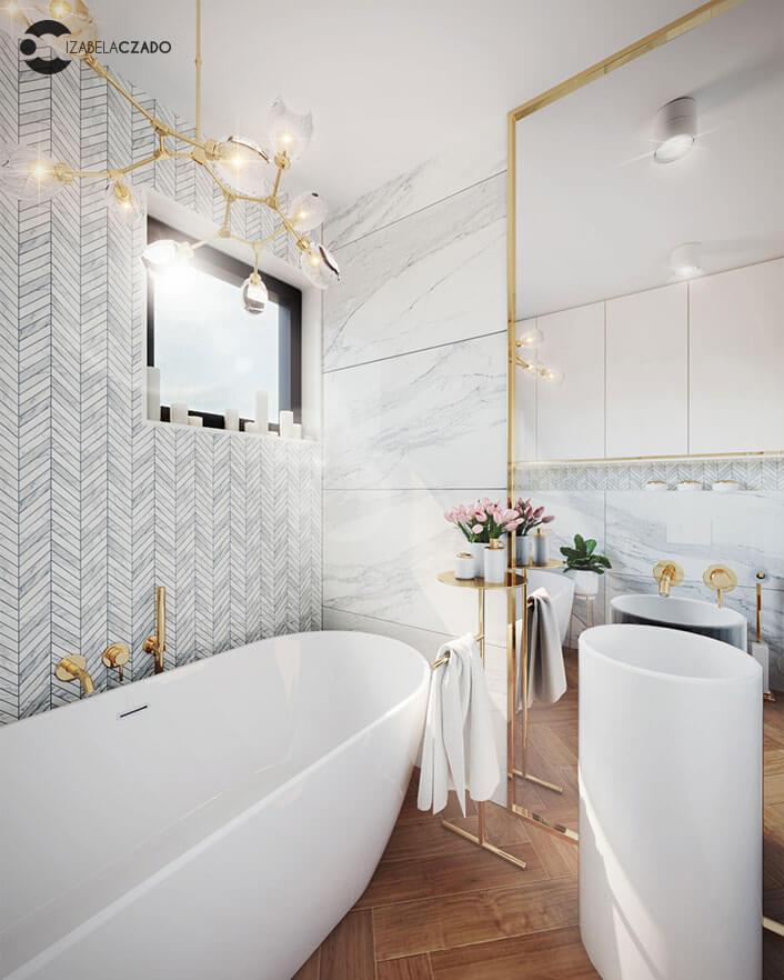 łazienka jasna 4 m kw. - stojak