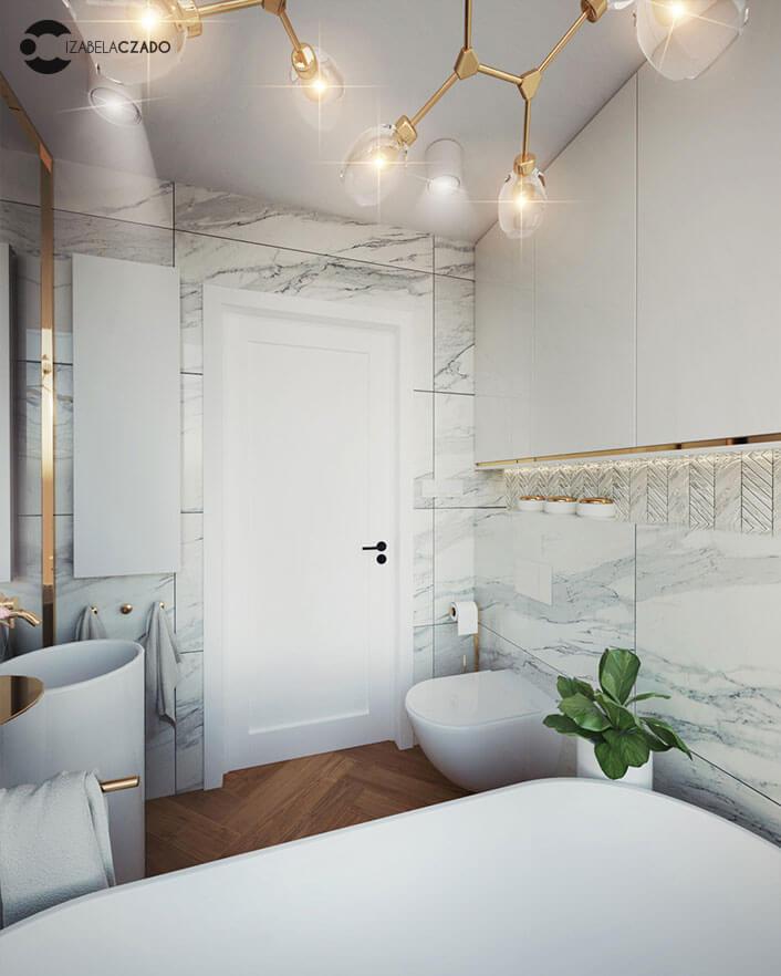 łazienka jasna 4 m kw. - toaleta