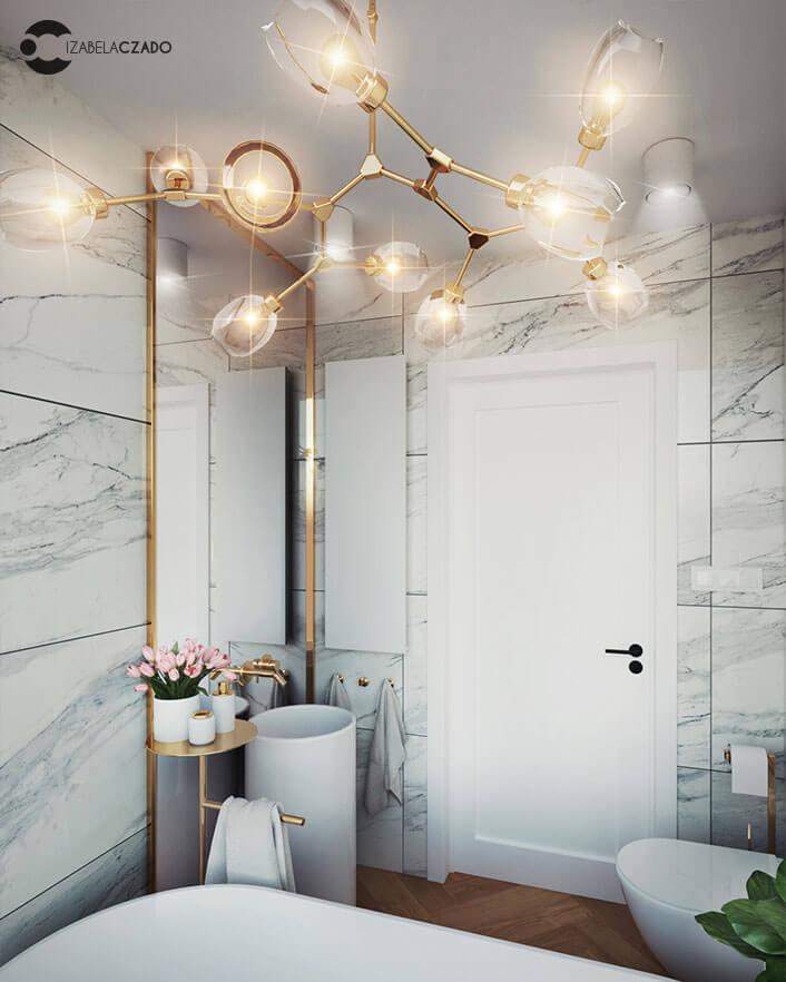łazienka jasna 4 m kw. - umywalka