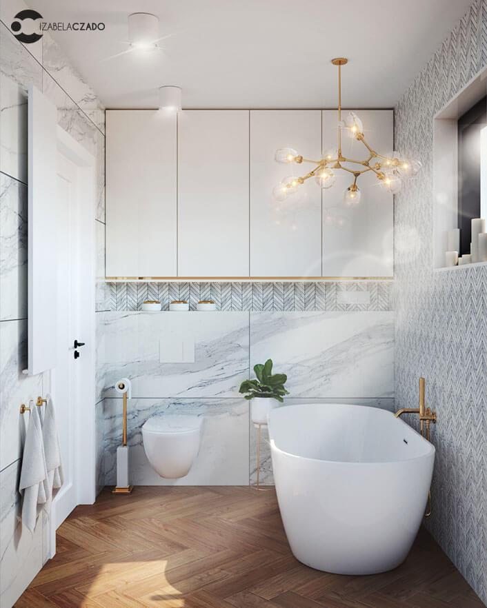 łazienka jasna 4 m kw. - szafka