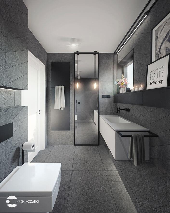 łazienka 7 m kw. widok na lustro 2