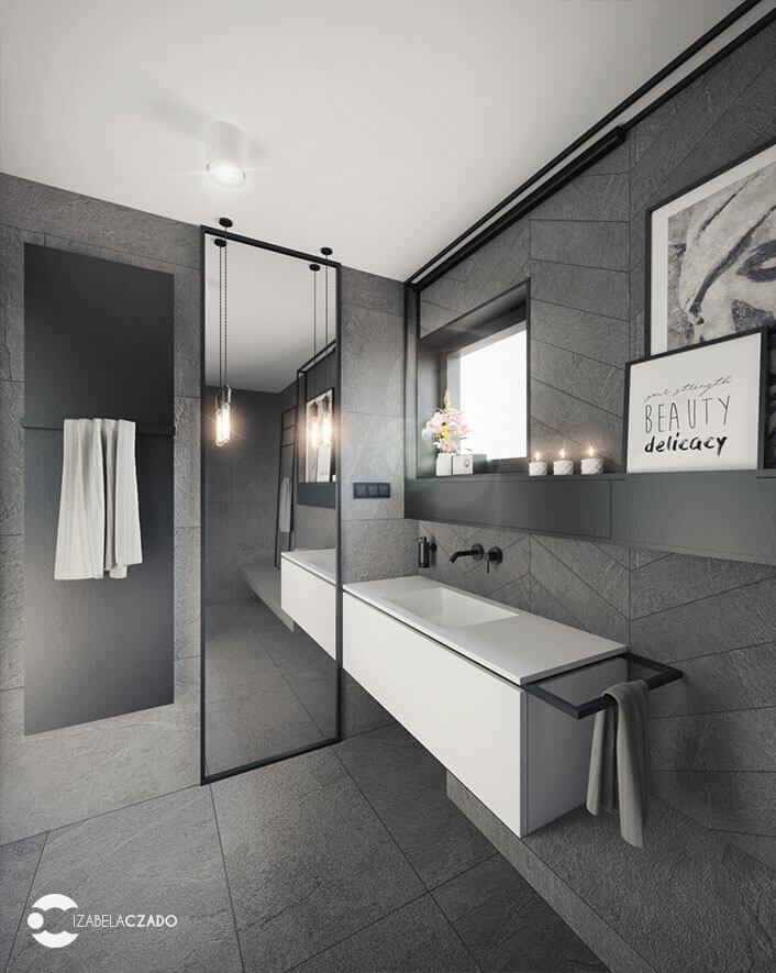 łazienka 7 m kw. widok na lustro 3