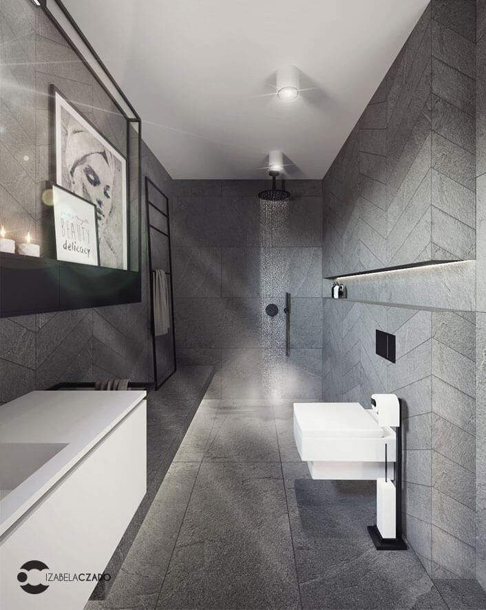 łazienka 7 m kw. widok na prysznic