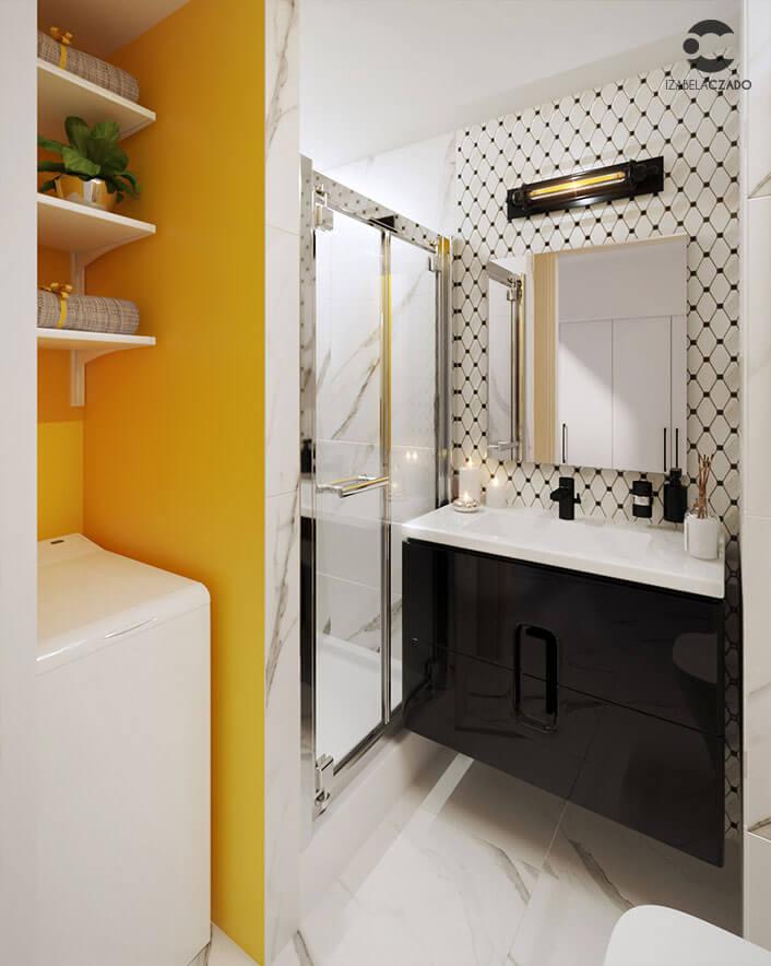 Kawalerka loftowa - łazienka 1.