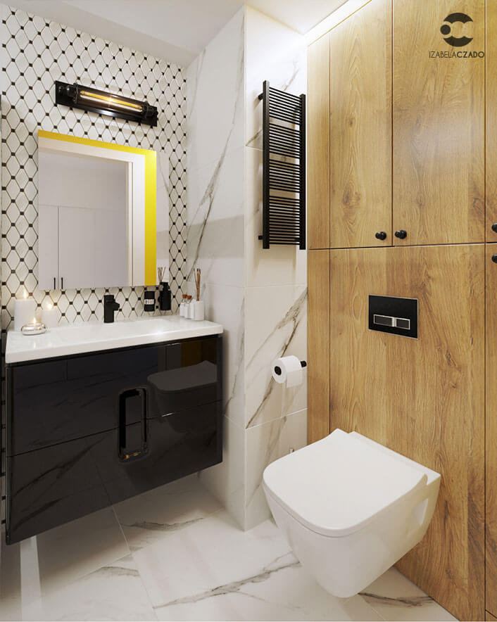 Kawalerka loftowa - łazienka 2.