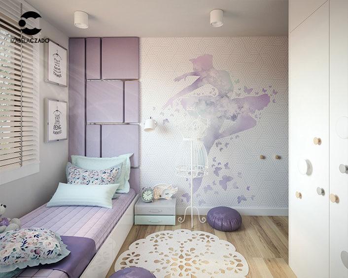"""Pokój dla dziewczynki - projektantki mody. Fototapeta """"Balerina 1"""".."""